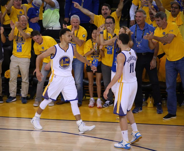 Stephen Curry y Klay Thompson (Golden State Warriors)