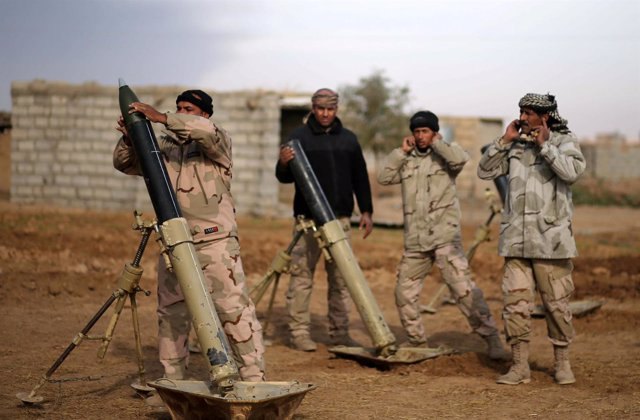 Soldados iraquíes en la ofensiva sobre Mosul