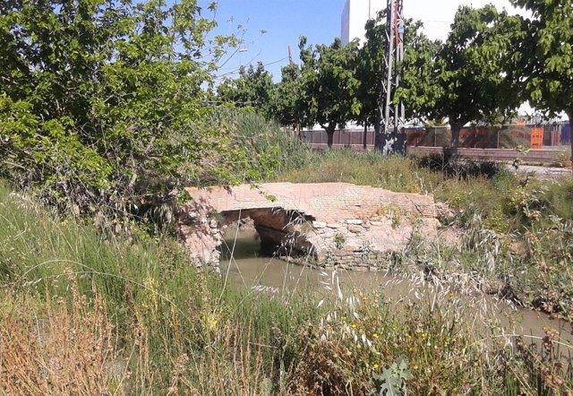 Imagen del antiguo Puente de las Pilas de Alcantarilla
