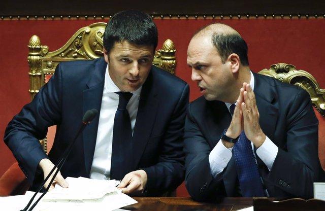 Matteo Renzi y Angelino Alfano