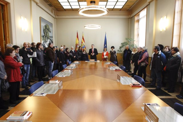 Celaya ha sido el encargado de recibir a los ciudadanos en esta jornada