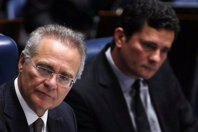Renan Calheiros, presidente del Senado