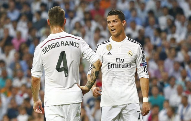 Cristiano y Ramos con el Real Madrid