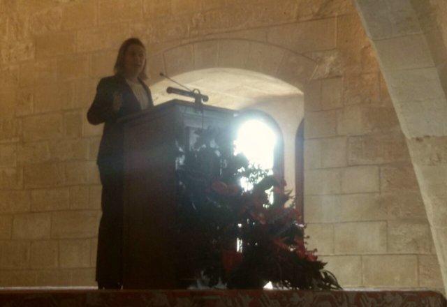 María Salom, en el XXXVIII aniversario de la Constitución