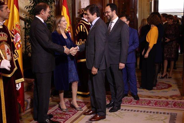 Javier Fernández durantes los actos del Día de la Constitución