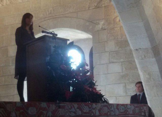 Francina Armengol, durante el 38 aniversario de la Constitución