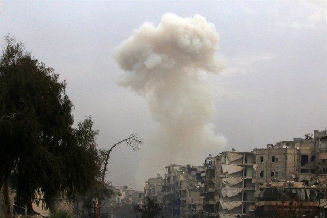 Barrio del este de Alepo