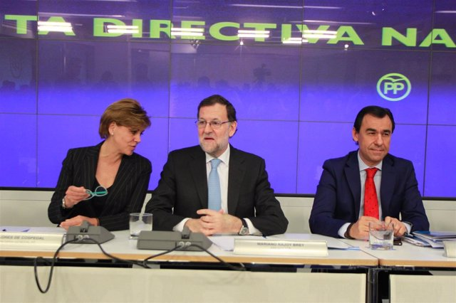 Cospedal, Rajoy y Martínez Maillo