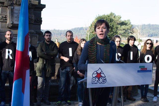 La portavoz nacional del BNG, Ana Pontón, el 6D