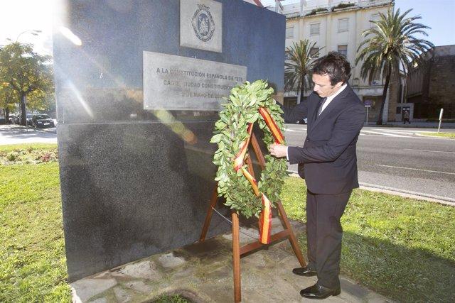 El alcalde de Cádiz, José María González, en el acto del Día de la Constitución