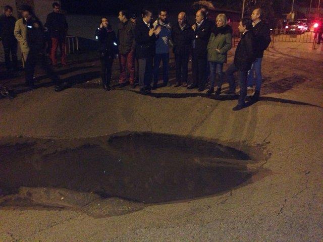 Visita del PP a las inundaciones de Cádiz