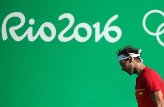 Rafa Nadal en el torneo olímpico de Río 2016