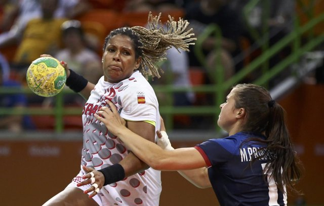 La jugadora de la selección española de balonmano Marta Mangué