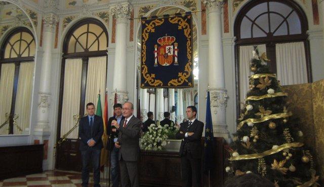 De la Torre y Juan Marín en el Ayuntamiento de Málaga