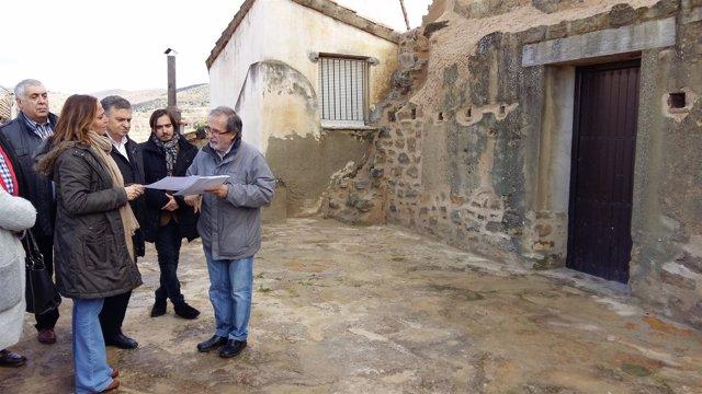 Mayte Pérez ha visitado hoy Rubielos de Mora (Teruel)