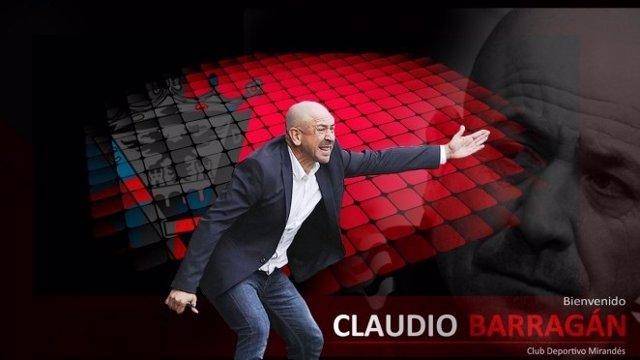Claudio Barragán, nuevo entrenador del Mirandés