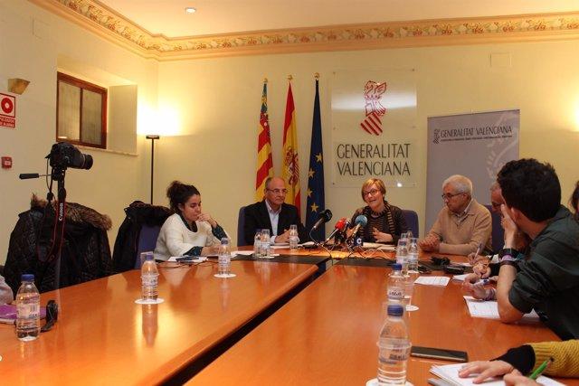 Rueda de prensa de María José Salvador en Castellón