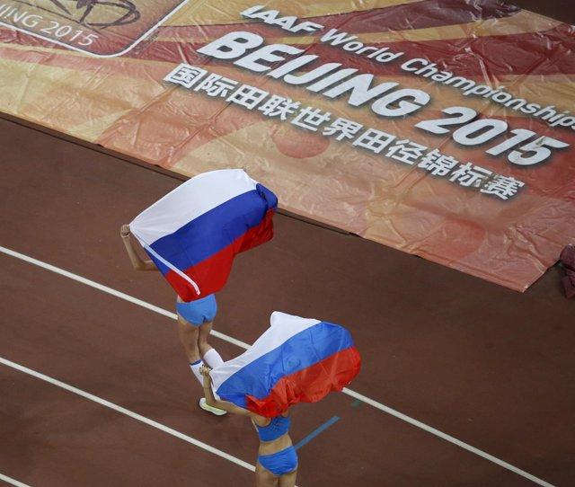 Atletas rusos en el Mundial de atletismo