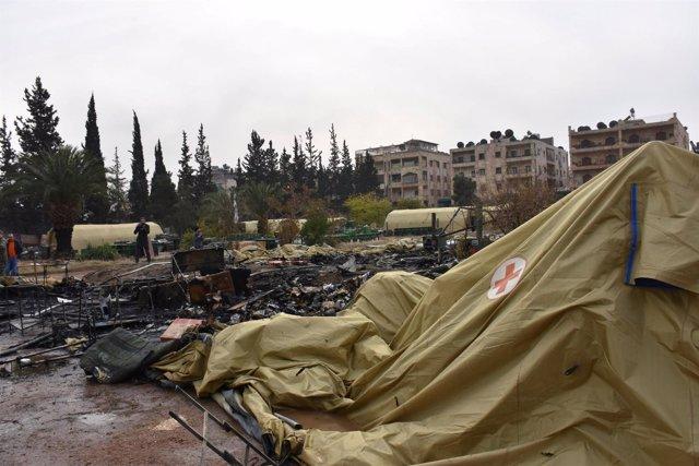 Ataque contra una clínica móvil rusa en Alepo