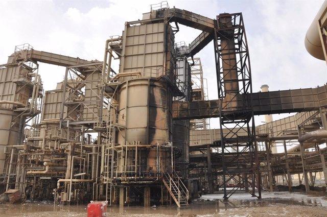 Refinería de petróleo ubicada en la localidad de Baiji,