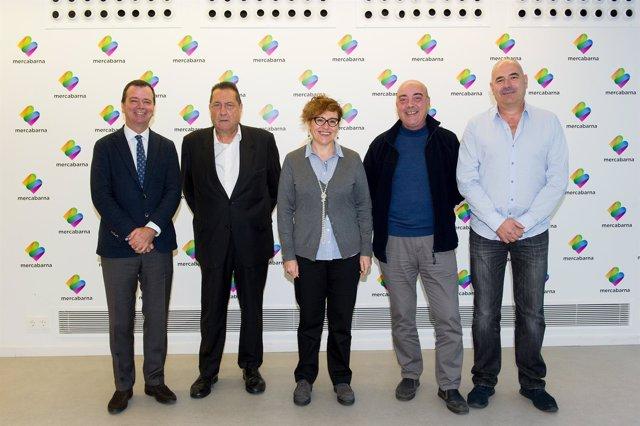 Josep Tejedo, Joan Llonch, Montserrat Ballarín,  Leandre Serra y Jaume Flores
