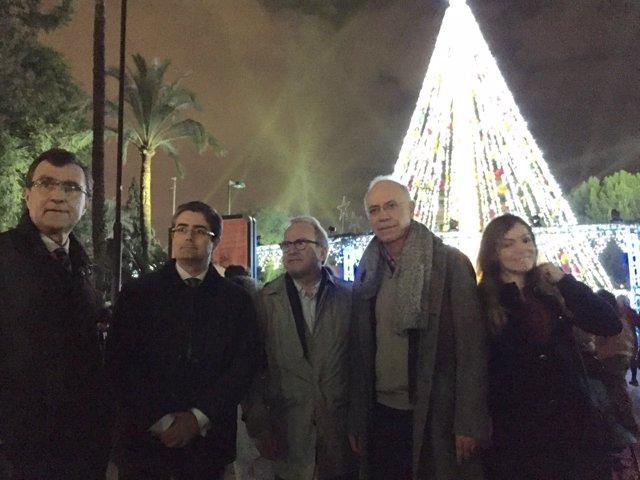 El árbol de Navidad de la Plaza Circular de Murcia