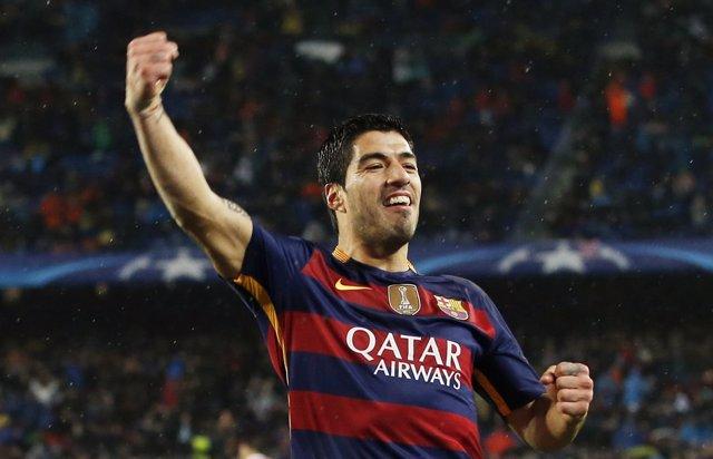 Luis Suárez en Champions