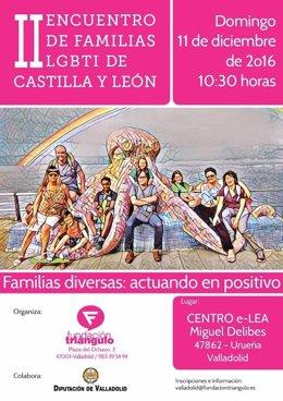 Cartel divulgador del II Encuentro de Familias LGBTI de CyL