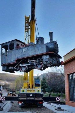 La locomotora 31 se recuperará en un taller de empleo de Utrillas