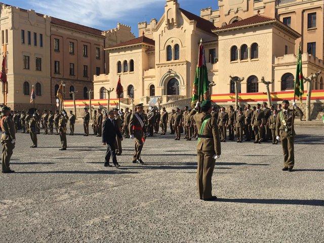 El teniente general Álvarez-Espejo y Enric Millo