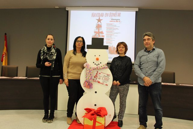 Presentación de la campaña comercial navideña en Binéfar