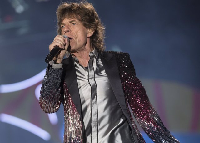 Mick Jagger en un concierto de los Rolling Stones