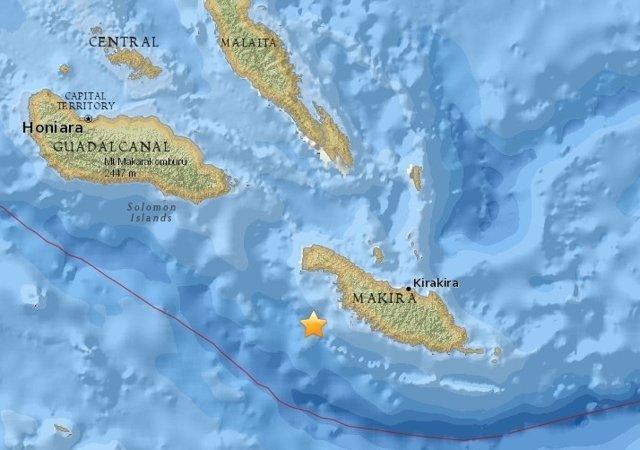 Terremoto en las Islas Salomón