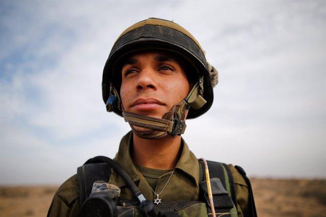 El militar árabe-israelí Yussef Saluta en Kissufim.