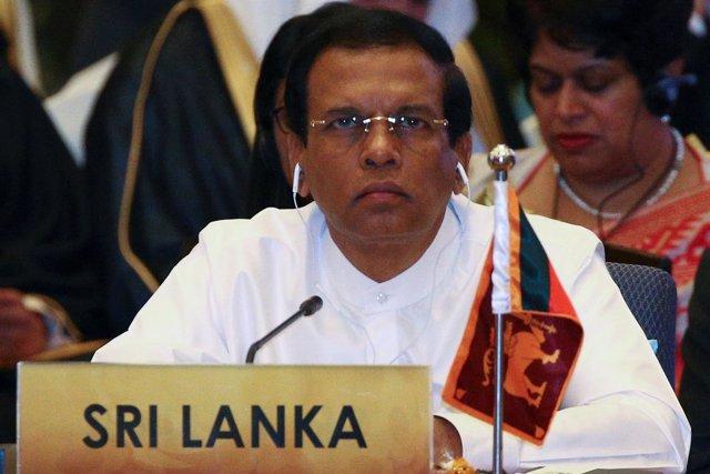 El presidente de Sri Lanka, Maithripala Sirisena.