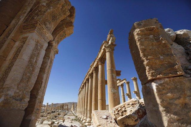Daños causados por Estado Islámico en la histórica ciudad de Palmira (SIria)