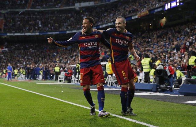 Neymar Jr e Iniesta