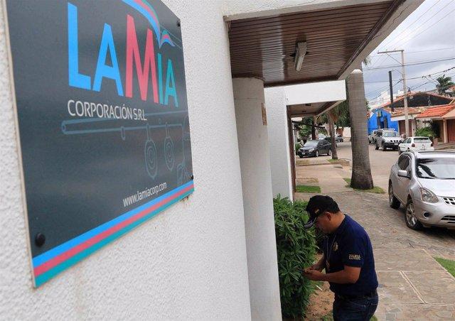 Sede de la aerolínea de Bolivia LaMia