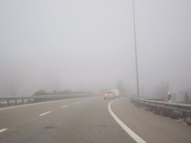 Niebla en las carreteras aragonesas