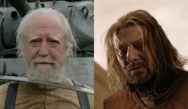 Hershel y Ned Stark