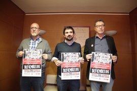 CC.OO, UGT y Podemos denuncian pérdida adquisitiva de las pensiones y aumento de trabajadores pobres