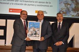 Lambán llama a continuar el diálogo social en los Premios CEPYME Aragón