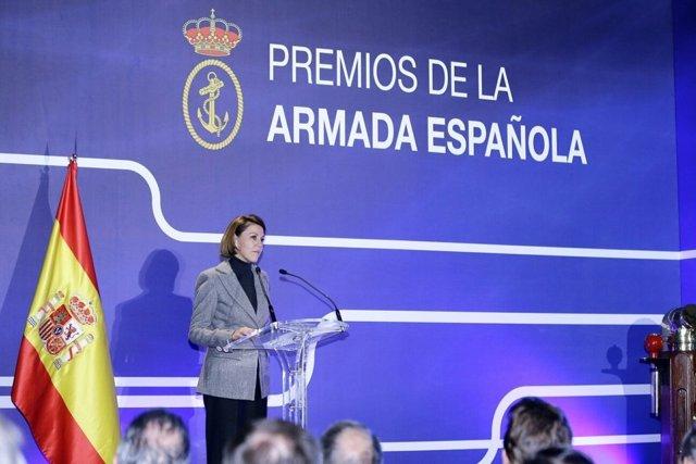 La ministra de Defensa, María Dolores de Cospedal, en los Premios de la Armada
