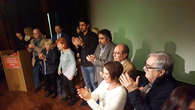 Presentación de plataforma crítca con la Gestora del PSOE