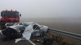 Mueren un hombre y una mujer en un accidente de tráfico en la A-222, en Belchite