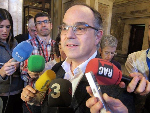 El líder de JxSí en el Parlament, Jordi Turull