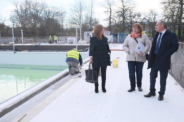 Obras de las nuevas piscinas de Urkabustaiz