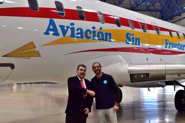 Avión dedicado a Aviación sin Fronteras