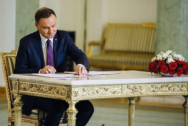 El presidente de Polonia, Andrzej Duda