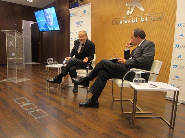 Exsecretario gral.De la OTAN J.Solana, exsecretario de Estado D.Vegara